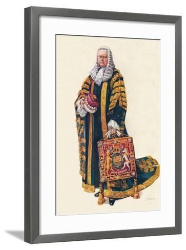 The Lord Chancellor in His Coronation Robes, 1937--Framed Art Print