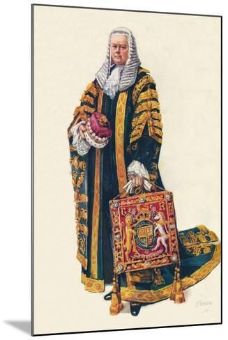 The Lord Chancellor in His Coronation Robes, 1937--Mounted Giclee Print