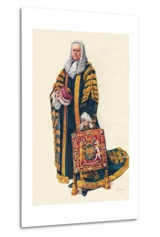 The Lord Chancellor in His Coronation Robes, 1937--Metal Print