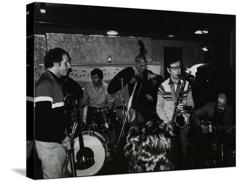 Jazz at the Bell, Codicote, Hertfordshire, January 1984-Denis Williams-Stretched Canvas Print
