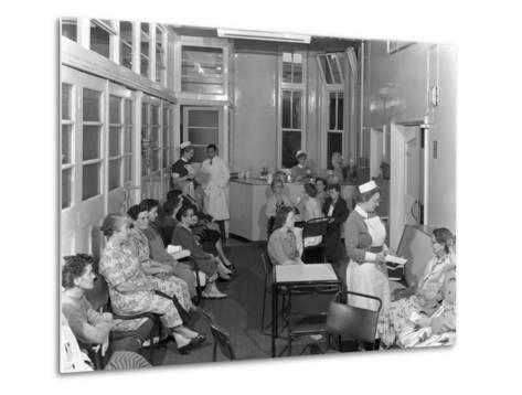 Outpatients Awaiting Treatement at the Montague Hospital, Mexborough, South Yorkshire, 1959-Michael Walters-Metal Print