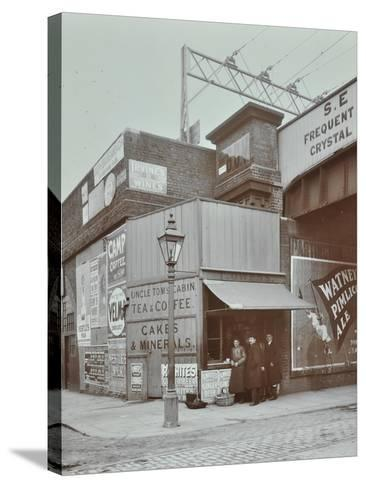 Uncle Toms Cabin Tea Stall, Wandsworth Road, London, 1909--Stretched Canvas Print