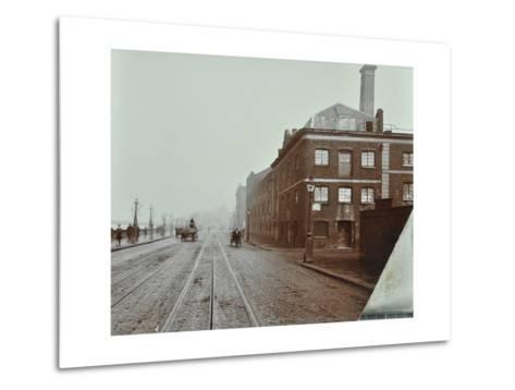 Tramlines on the Albert Embankment, Lambeth, London, 1909--Metal Print