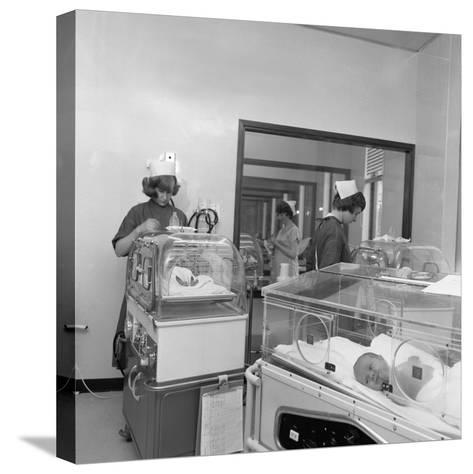 Special Care Unit for Premature Babies, Nether Edge Hospital, Sheffield, South Yorkshire, 1969-Michael Walters-Stretched Canvas Print
