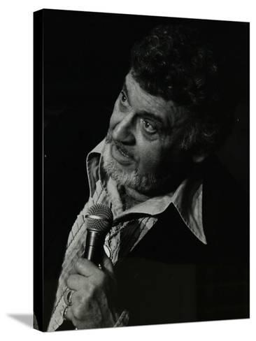 Frankie Laine on Stage at the Forum Theatre, Hatfield, Hertfordshire, 10 May 1982-Denis Williams-Stretched Canvas Print