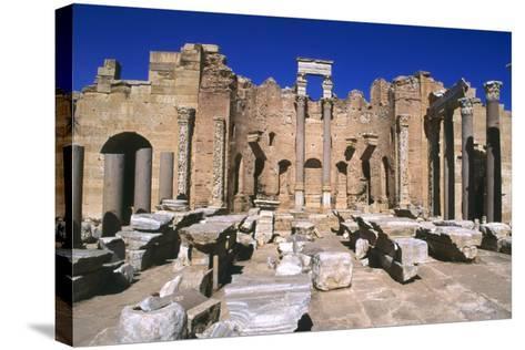 Severan Basilica, Leptis Magna, Libya, 216 Ad-Vivienne Sharp-Stretched Canvas Print