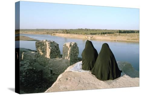 Two Iraqi Women at Bash Tapia Castle, Mosul, Iraq, 1977-Vivienne Sharp-Stretched Canvas Print