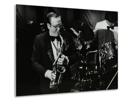 Harry Bence Playing the Saxophone at the Forum Theatre, Hatfield, Hertfordshire, 1984-Denis Williams-Metal Print