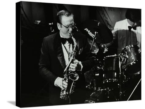 Harry Bence Playing the Saxophone at the Forum Theatre, Hatfield, Hertfordshire, 1984-Denis Williams-Stretched Canvas Print