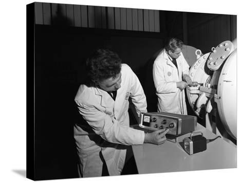 Technicians Working at the Park Gate Iron and Steel Co, Rotherham, South Yorkshire, 1966-Michael Walters-Stretched Canvas Print