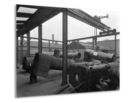Locomotive Repairs, Doncaster, South Yorkshire, 1959-Michael Walters-Metal Print