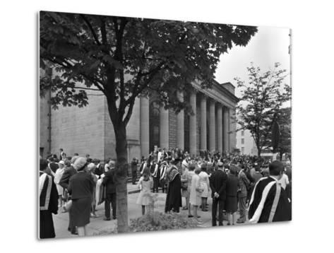 University Graduates Outside Sheffield City Hall, South Yorkshire, 1967-Michael Walters-Metal Print
