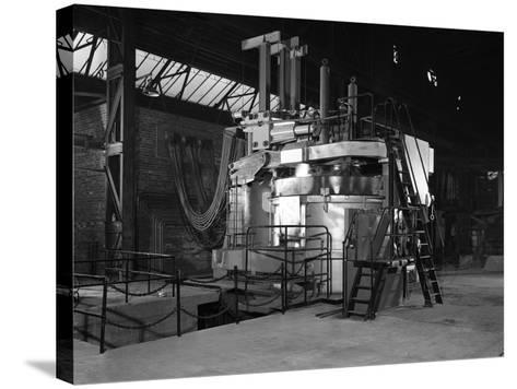Tilghman Electric Arc Furnace, Keyser Ellison Steelworks, Sheffield, South Yorkshire, 1964-Michael Walters-Stretched Canvas Print