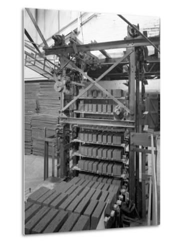 Palletising Machine at Whitwick Brickworks, Coalville, Leicestershire, 1963-Michael Walters-Metal Print