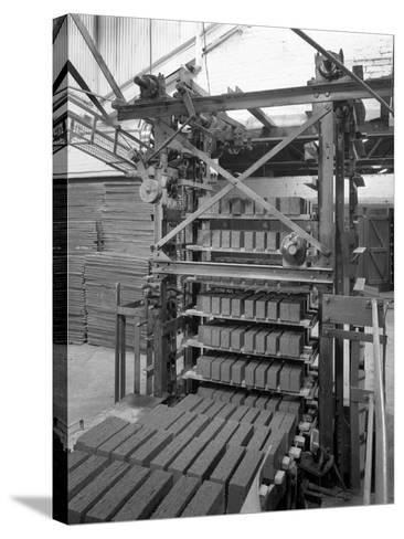 Palletising Machine at Whitwick Brickworks, Coalville, Leicestershire, 1963-Michael Walters-Stretched Canvas Print