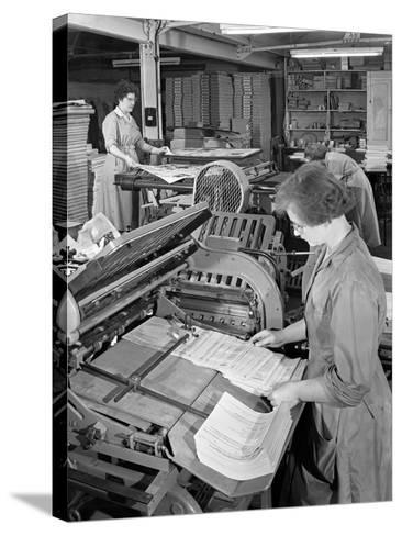 A Folding Machine in a Printworks, Mexborough, South Yorkshire, 1959-Michael Walters-Stretched Canvas Print