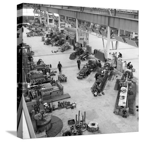 Lathe Workshop Area, Park Gate Iron and Steel Co, Rotherham, South Yorkshire, 1964-Michael Walters-Stretched Canvas Print