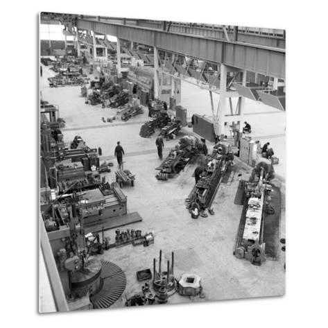 Lathe Workshop Area, Park Gate Iron and Steel Co, Rotherham, South Yorkshire, 1964-Michael Walters-Metal Print
