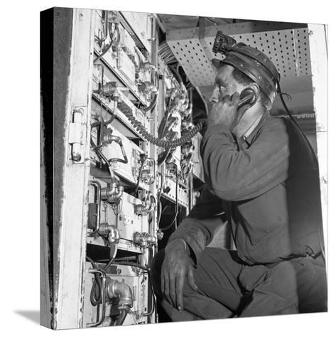 Comunications, a Miner from Bevercotes Colliery, Nottinghamshire, 1967-Michael Walters-Stretched Canvas Print