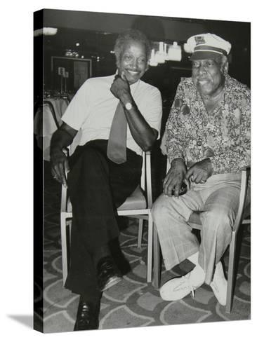 Freddie Green and Count Basie at the Grosvenor House Hotel, London, 1979-Denis Williams-Stretched Canvas Print