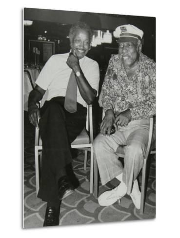 Freddie Green and Count Basie at the Grosvenor House Hotel, London, 1979-Denis Williams-Metal Print