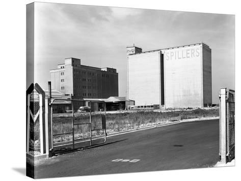 Main Mill Buildings at Spillers Animal Foods, Gainsborough, Lincolnshire, 1965-Michael Walters-Stretched Canvas Print