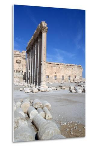 Courtyard of the Temple of Bel, Palmyra, Syria-Vivienne Sharp-Metal Print