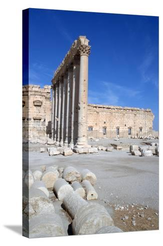 Courtyard of the Temple of Bel, Palmyra, Syria-Vivienne Sharp-Stretched Canvas Print