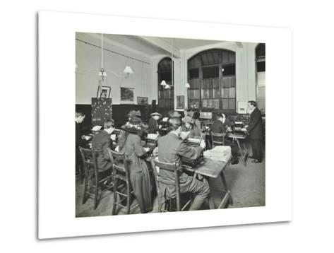 Typewriting Class, Hammersmith Commercial Institute, London, 1913--Metal Print