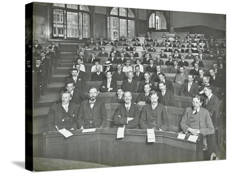 A Class Listening to a Lecture, London Day Training College, 1914--Stretched Canvas Print