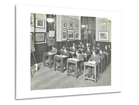 Bookkeeping Class for Men, Blackheath Road Evening Institute, London, 1914--Metal Print