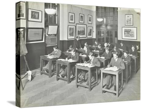 Bookkeeping Class for Men, Blackheath Road Evening Institute, London, 1914--Stretched Canvas Print