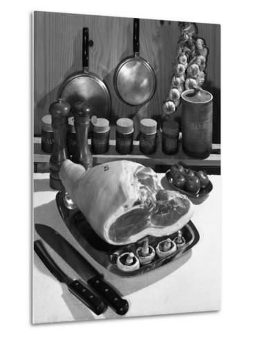 Danish Bacon Gammon Joint with Spice Jars, 1963-Michael Walters-Metal Print