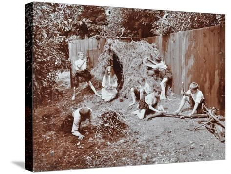 Children Dressed as Prehistoric Cave Dwellers, Birley House Open Air School, London, 1908--Stretched Canvas Print
