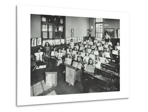 Nature Lesson, Albion Street Girls School, Rotherhithe, London, 1908--Metal Print