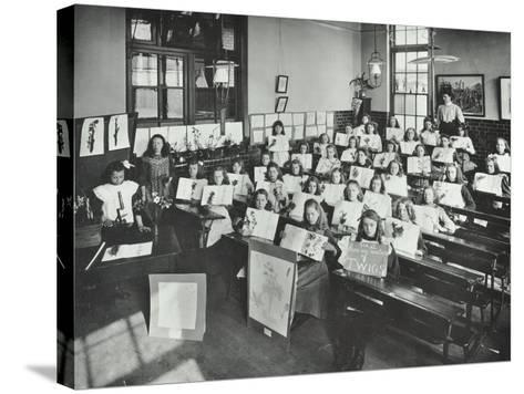 Nature Lesson, Albion Street Girls School, Rotherhithe, London, 1908--Stretched Canvas Print