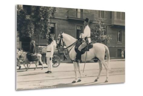 Egyptian Police, Cairo, Egypt, 1936--Metal Print
