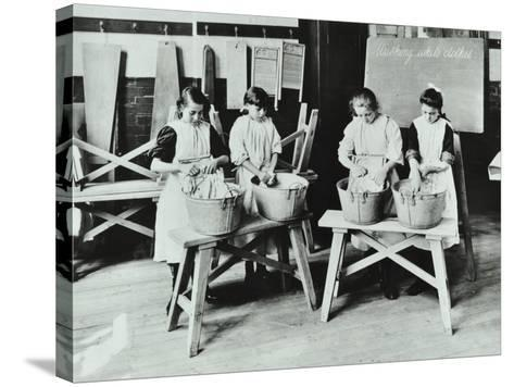 Laundry Work, Tennyson Street School, Battersea, London, 1907--Stretched Canvas Print