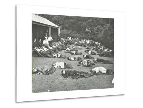 Children Resting in the Garden, Birley House Open Air School, Forest Hill, London, 1908--Metal Print