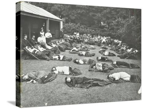 Children Resting in the Garden, Birley House Open Air School, Forest Hill, London, 1908--Stretched Canvas Print