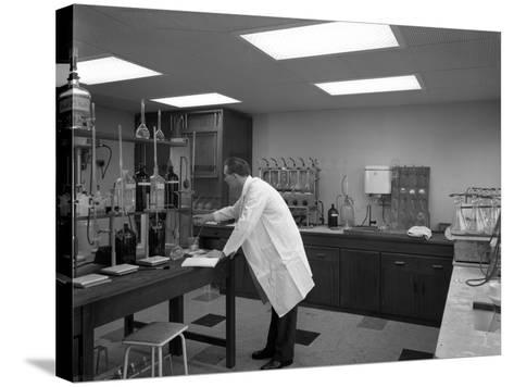 Laboratory Facility at Spillers Animal Foods, Gainsborough, Lincolnshire, 1960-Michael Walters-Stretched Canvas Print