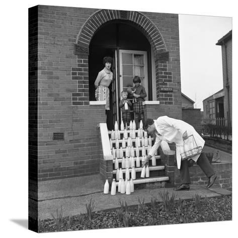60 Pints of Milk, Advertisment for the Barnsley Co-Op, Mexborough, South Yorkshire, 1964-Michael Walters-Stretched Canvas Print