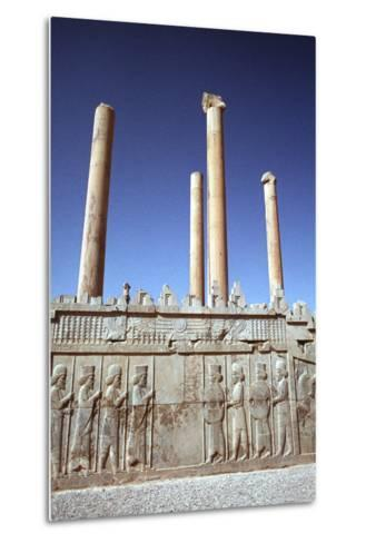 Relief of Medes and Persians, the Apadana, Persepolis, Iran-Vivienne Sharp-Metal Print