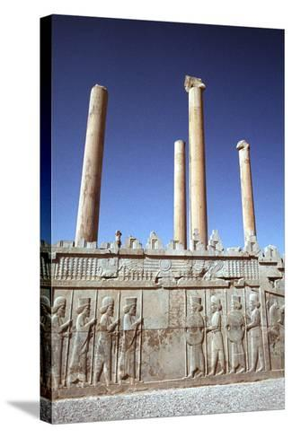 Relief of Medes and Persians, the Apadana, Persepolis, Iran-Vivienne Sharp-Stretched Canvas Print