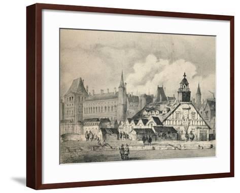The Pompe De La Samaritaine in 1635, 1915--Framed Art Print