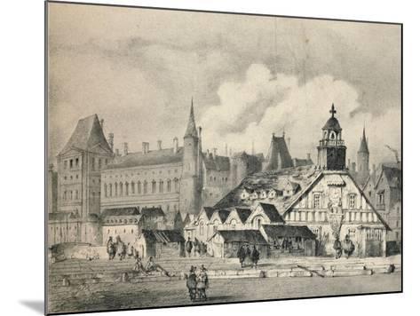 The Pompe De La Samaritaine in 1635, 1915--Mounted Giclee Print