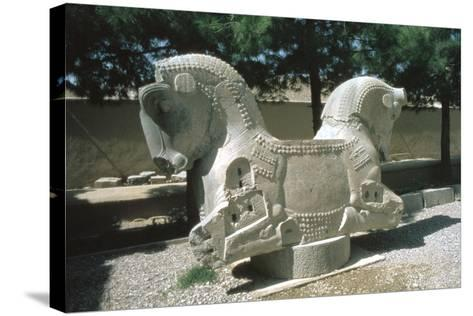 Protome of a Double Horse, the Apadana, Persepolis, Iran-Vivienne Sharp-Stretched Canvas Print