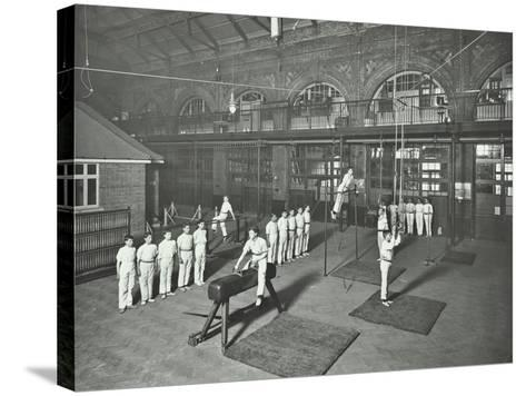 Gymnastics by Male Students, School of Building, Brixton, London, 1914--Stretched Canvas Print