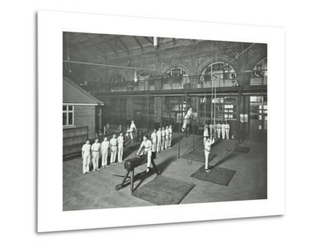 Gymnastics by Male Students, School of Building, Brixton, London, 1914--Metal Print