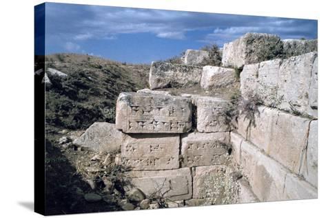 Cuneiform Inscriptions on Stones, Ruined Aqueduct, Jerwan, Iraq, 1977-Vivienne Sharp-Stretched Canvas Print